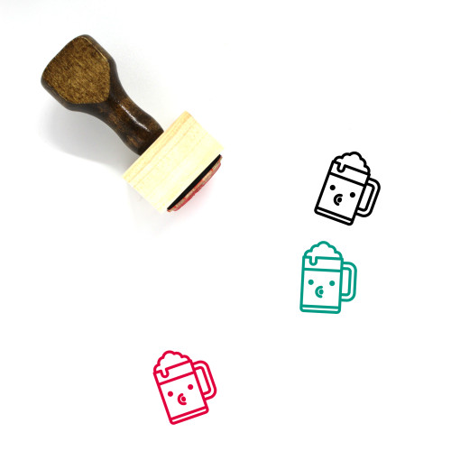 Blowing Kiss Wooden Rubber Stamp No. 14