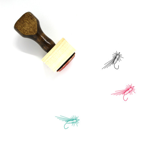 Fishing Fly Wooden Rubber Stamp No. 1
