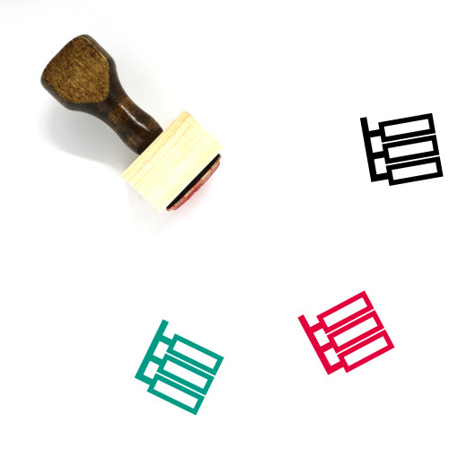 Hierarchy Flow Wooden Rubber Stamp No. 1