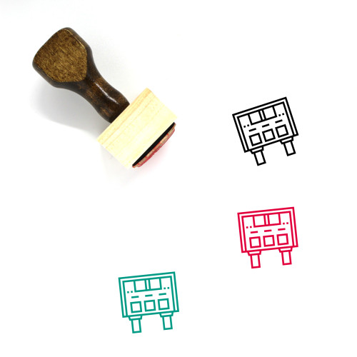 Score Wooden Rubber Stamp No. 12