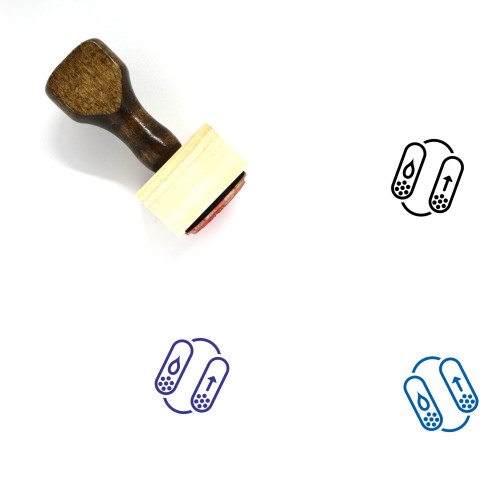 Air Dryer Wooden Rubber Stamp No. 2