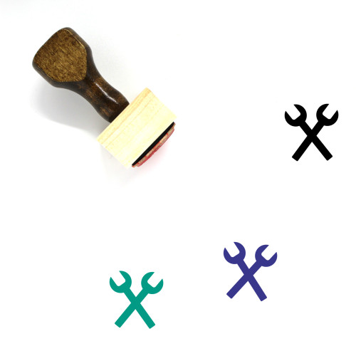 Wrenches Wooden Rubber Stamp No. 39