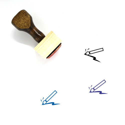 Paint Brush Wooden Rubber Stamp No. 104