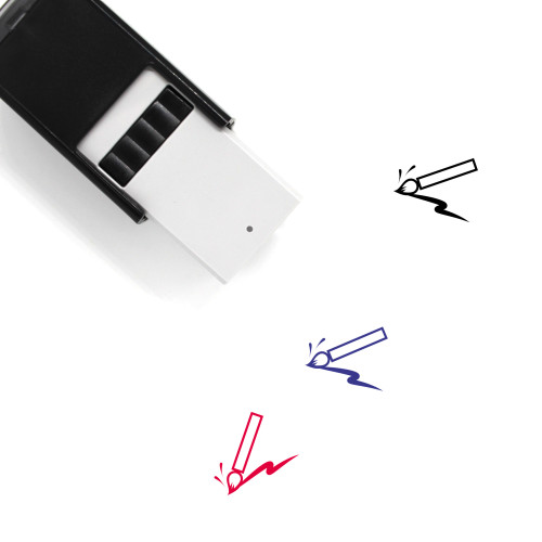 Paint Brush Self-Inking Rubber Stamp No. 104
