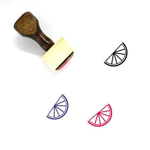Fruit Slice Wooden Rubber Stamp No. 2