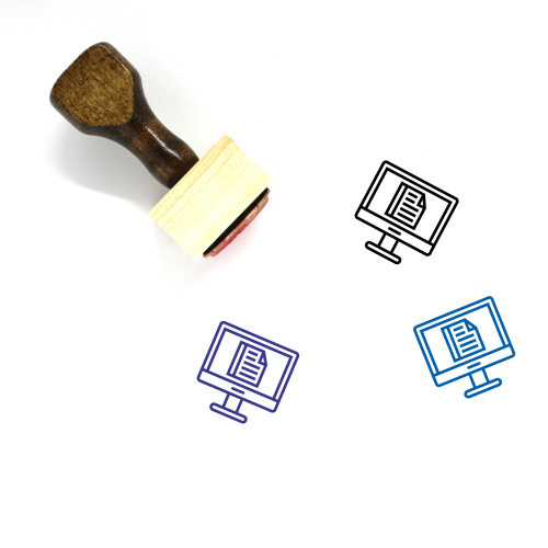 Work Computer Wooden Rubber Stamp No. 7