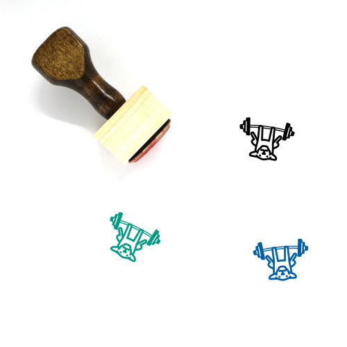 Dog Wooden Rubber Stamp No. 179