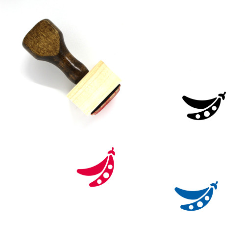 Soybean Wooden Rubber Stamp No. 1