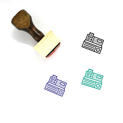 Cash Machine Wooden Rubber Stamp No. 30