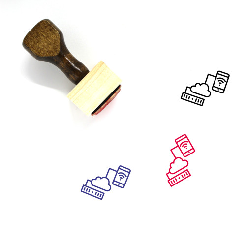 Network Sharing Wooden Rubber Stamp No. 45
