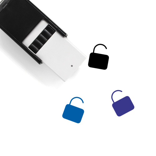 Unlock Self-Inking Rubber Stamp No. 177