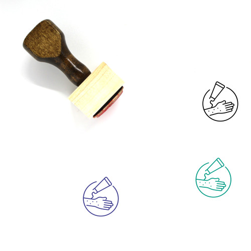Skin Care Wooden Rubber Stamp No. 24