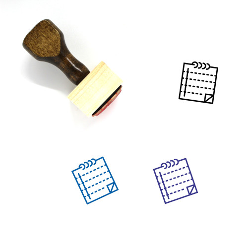 Notepad Wooden Rubber Stamp No. 78