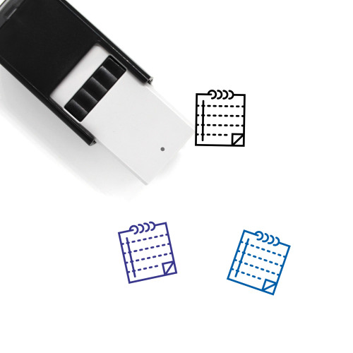 Notepad Self-Inking Rubber Stamp No. 78