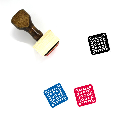 Microprocessor Wooden Rubber Stamp No. 29
