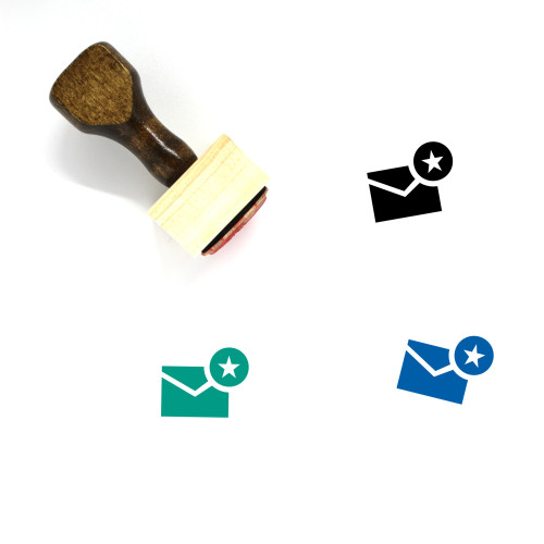 Email Favorite Wooden Rubber Stamp No. 1