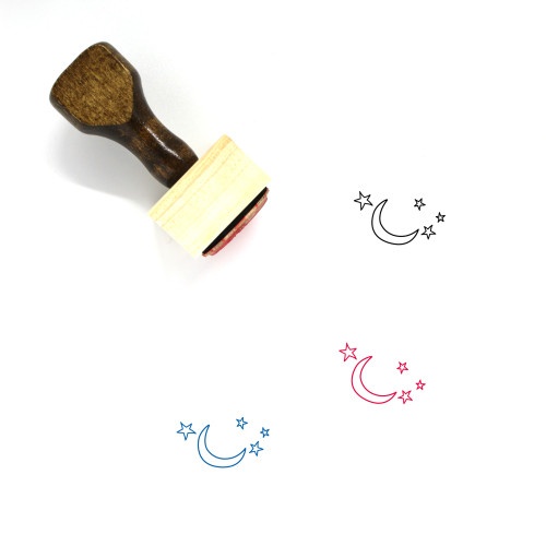Moon Wooden Rubber Stamp No. 224