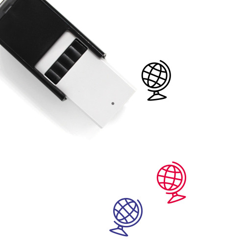Globe Self-Inking Rubber Stamp No. 1355