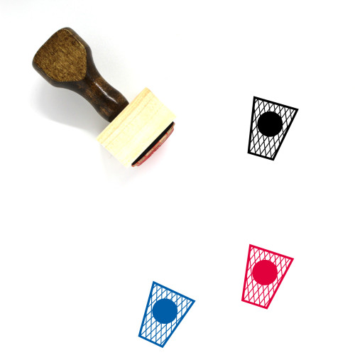 Trash Can Wooden Rubber Stamp No. 134