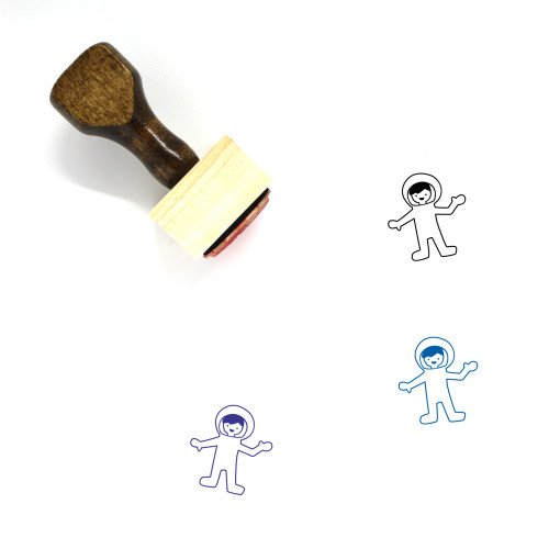 Astronaut Wooden Rubber Stamp No. 77