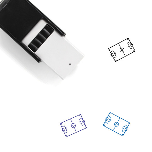 Soccer Field Self-Inking Rubber Stamp No. 45