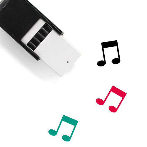 Music Note Self-Inking Rubber Stamp No. 86