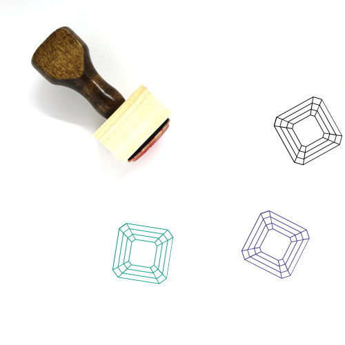 Emerald Wooden Rubber Stamp No. 13