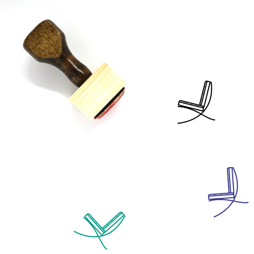 Chair Wooden Rubber Stamp No. 195