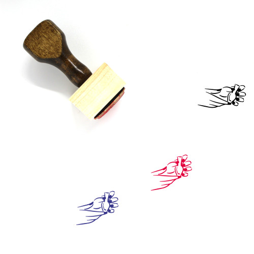Manicure Wooden Rubber Stamp No. 38