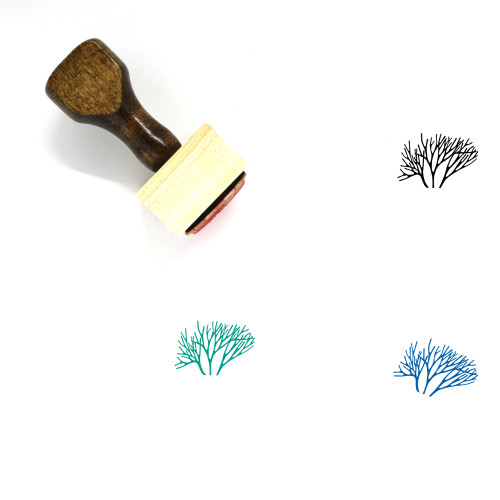 Coral Wooden Rubber Stamp No. 10