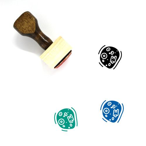 Cell Wooden Rubber Stamp No. 80