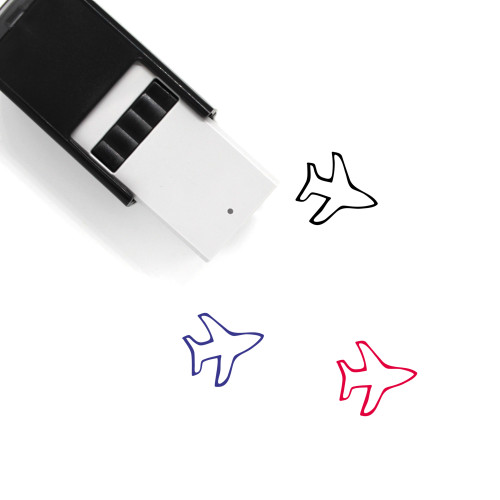Airplane Self-Inking Rubber Stamp No. 362