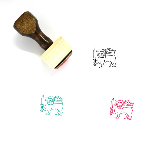 Lion Wooden Rubber Stamp No. 188