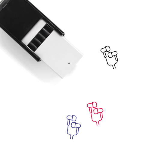 Earbuds Self-Inking Rubber Stamp No. 9