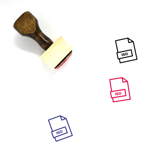 ISO File Wooden Rubber Stamp No. 34