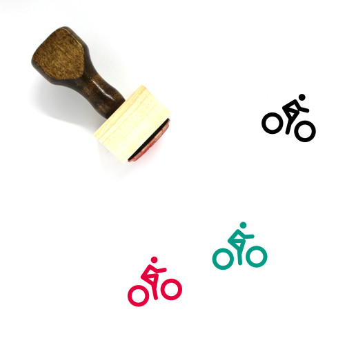 Bicycle Wooden Rubber Stamp No. 200