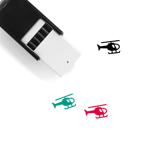 Helicopter Self-Inking Rubber Stamp No. 104