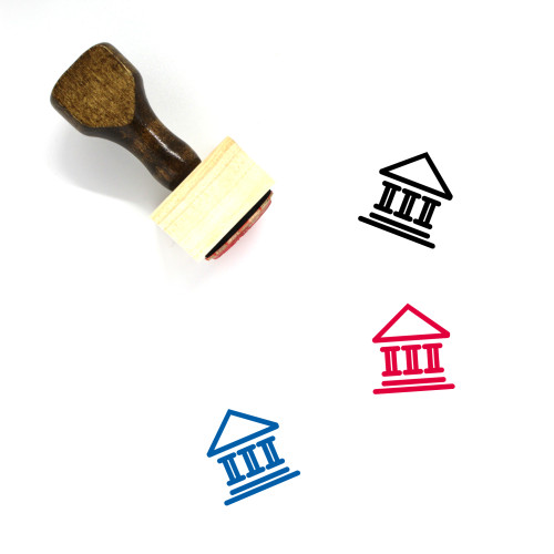 Court Wooden Rubber Stamp No. 185