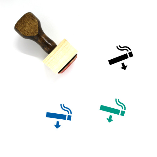 Smoking Area Wooden Rubber Stamp No. 44