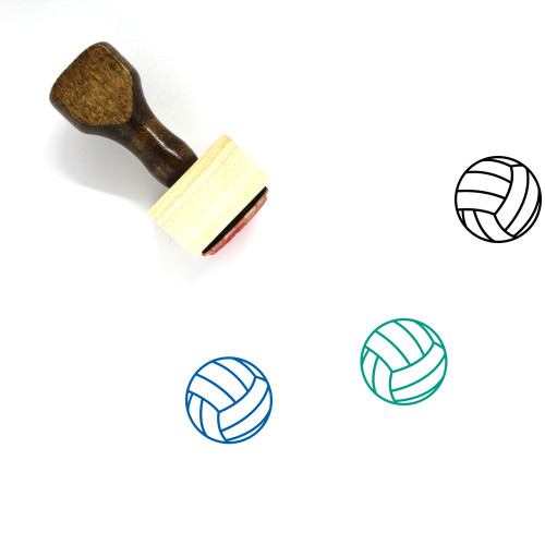 Volleyball Wooden Rubber Stamp No. 52