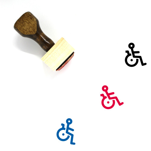 Disabled Wooden Rubber Stamp No. 35