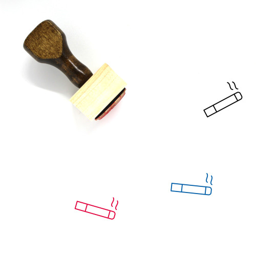 Smoking Area Wooden Rubber Stamp No. 45