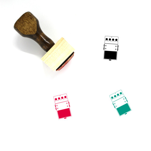 Digital Delay Wooden Rubber Stamp No. 1
