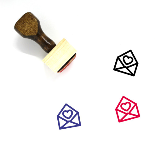 Love Letter Wooden Rubber Stamp No. 182