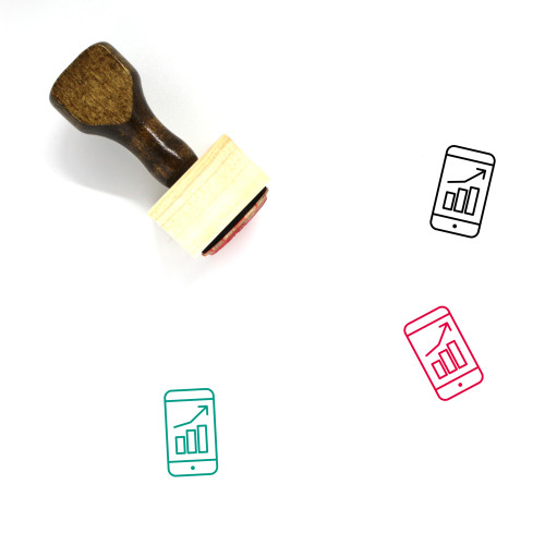 Bar Chart Wooden Rubber Stamp No. 159
