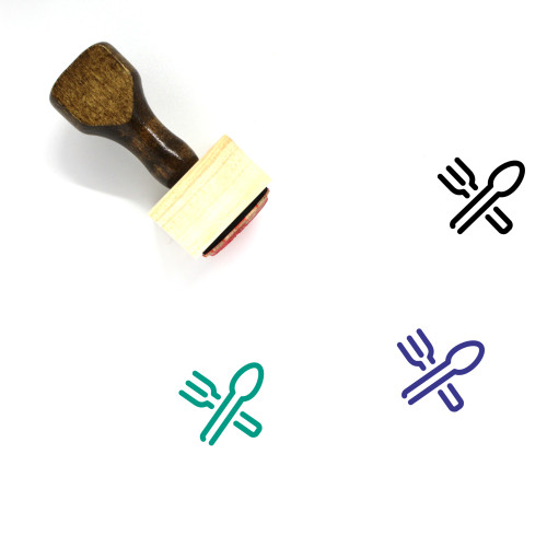 Utensils Wooden Rubber Stamp No. 7
