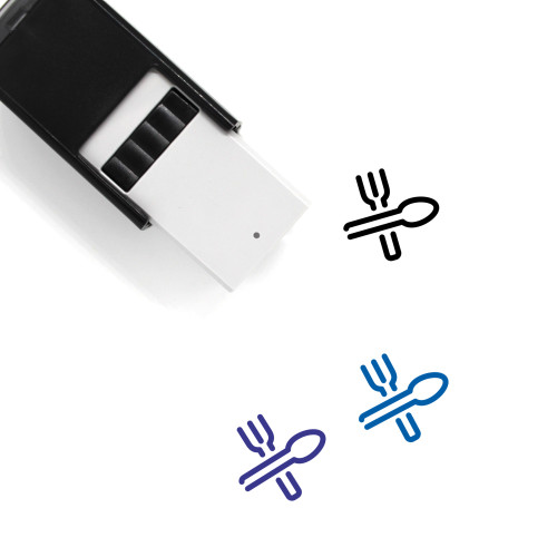 Utensils Self-Inking Rubber Stamp No. 7