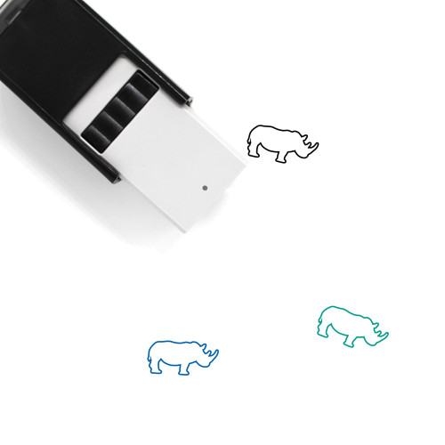 Rhinoceros Self-Inking Rubber Stamp No. 15