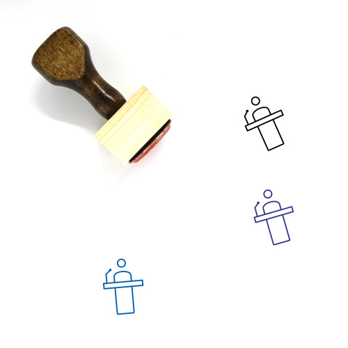 Press Conference Wooden Rubber Stamp No. 8