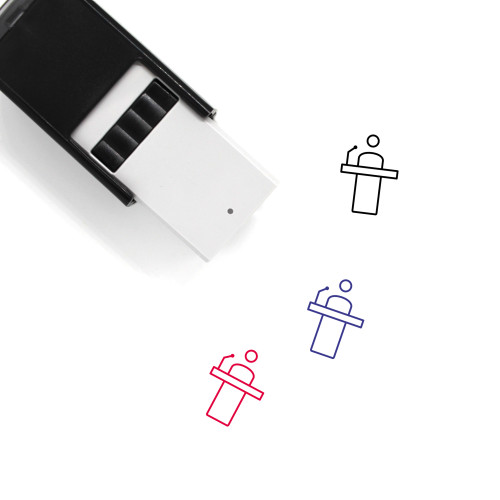 Press Conference Self-Inking Rubber Stamp No. 8